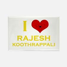 I Heart Rajesh Koothrappali Rectangle Magnet