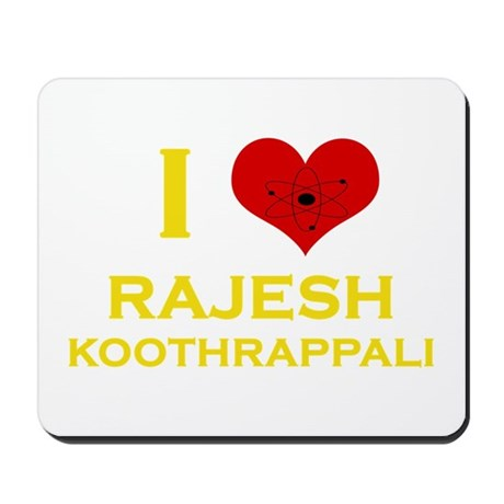 I Heart Rajesh Koothrappali Mousepad
