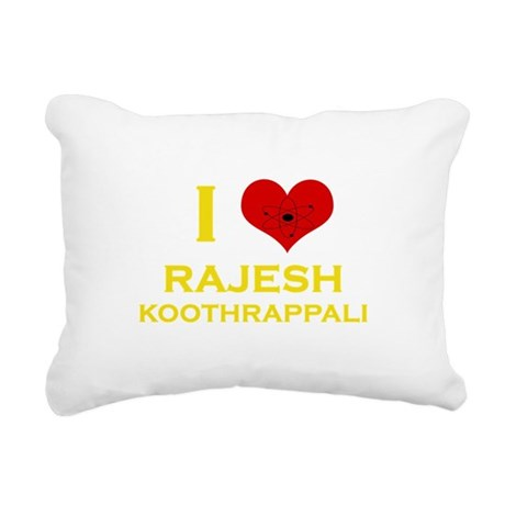 I Heart Rajesh Koothrappali Rectangular Canvas Pil