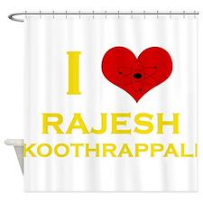 I Heart Rajesh Koothrappali Shower Curtain