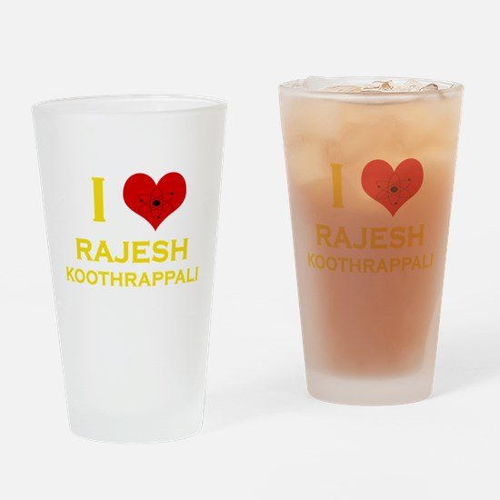 I Heart Rajesh Koothrappali Drinking Glass