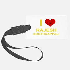 I Heart Rajesh Koothrappali Luggage Tag