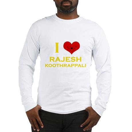 I Heart Rajesh Koothrappali Long Sleeve T-Shirt