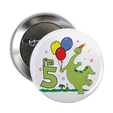 "Dino 5th Birthday 2.25"" Button (10 pack)"