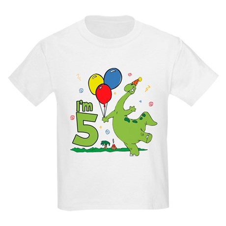 Dino 5th Birthday Kids T-Shirt