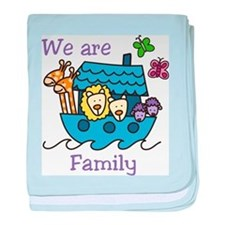 We Are Family baby blanket
