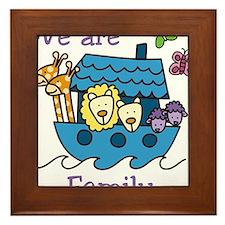 We Are Family Framed Tile