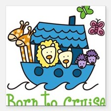 """Born To Cruise Square Car Magnet 3"""" x 3"""""""