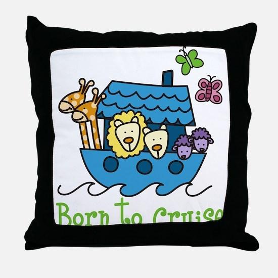 Born To Cruise Throw Pillow