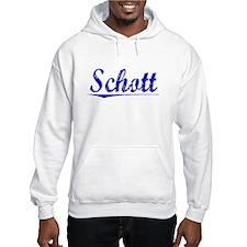 Schott, Blue, Aged Jumper Hoody