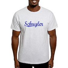 Schuyler, Blue, Aged T-Shirt
