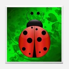 Ladybug with border - Tile Coaster
