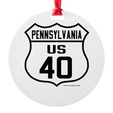 US Route 40 - Pennsylvania Ornament