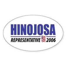 Hinojosa 2006 Oval Decal