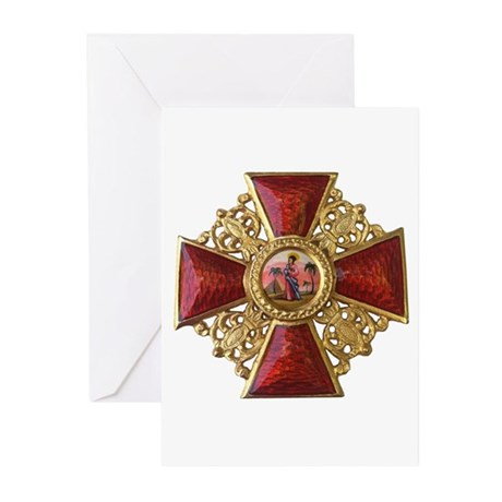 Order of Saint Anna Cross Greeting Cards