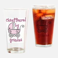 Chauffeured By Grandma Drinking Glass
