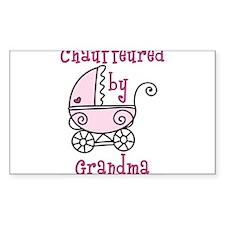 Chauffeured By Grandma Decal