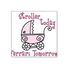 """Stroller Today Square Sticker 3"""" x 3"""""""