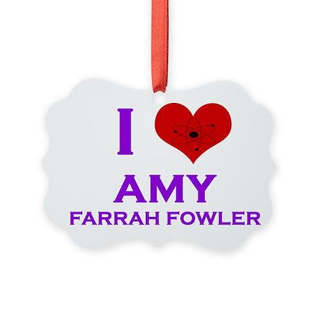 I Heart Amy Farrah Fowler Picture Ornament