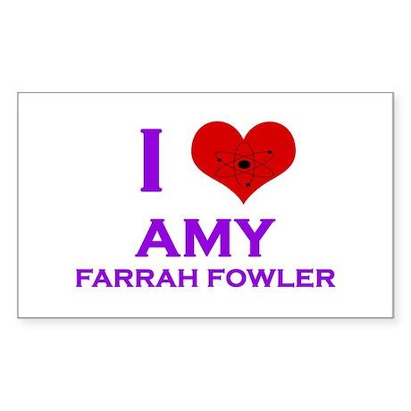 I Heart Amy Farrah Fowler Sticker (Rectangle)