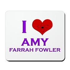 I Heart Amy Farrah Fowler Mousepad