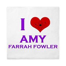 I Heart Amy Farrah Fowler Queen Duvet