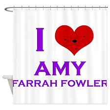 I Heart Amy Farrah Fowler Shower Curtain