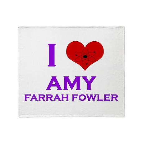 I Heart Amy Farrah Fowler Throw Blanket
