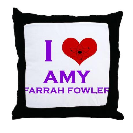 I Heart Amy Farrah Fowler Throw Pillow
