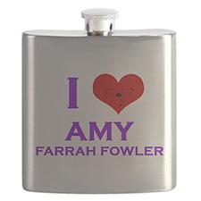 I Heart Amy Farrah Fowler Flask