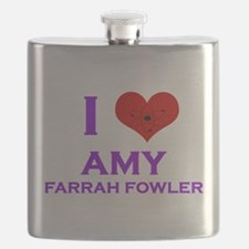 I Heart Amy Farrah Fowler Flask