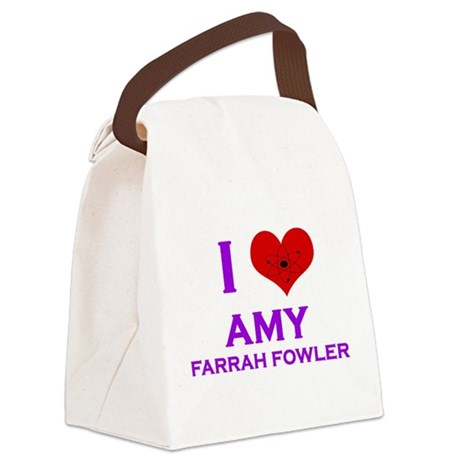 I Heart Amy Farrah Fowler Canvas Lunch Bag