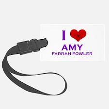 I Heart Amy Farrah Fowler Luggage Tag