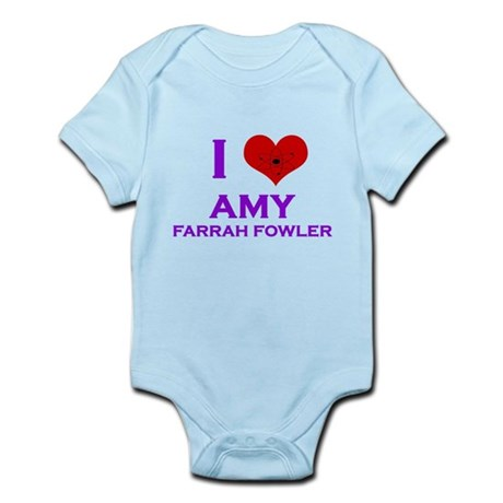 I Heart Amy Farrah Fowler Infant Bodysuit
