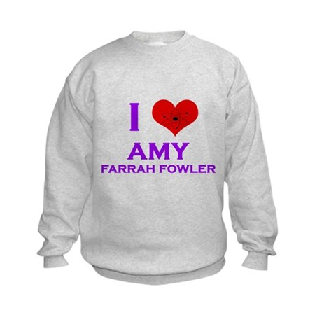 I Heart Amy Farrah Fowler Kids Sweatshirt