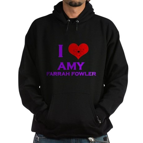 I Heart Amy Farrah Fowler Hoodie (dark)
