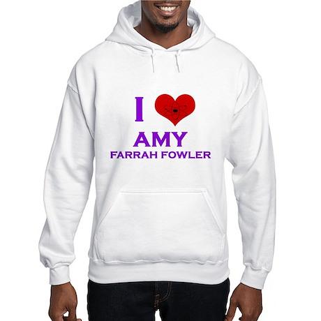 I Heart Amy Farrah Fowler Hooded Sweatshirt