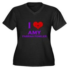 I Heart Amy Farrah Fowler Women's Plus Size V-Neck