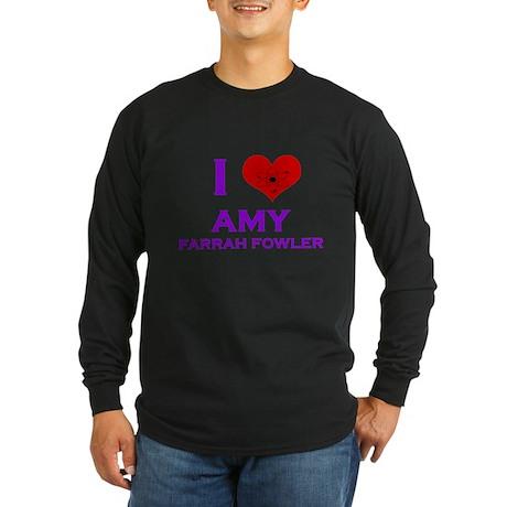 I Heart Amy Farrah Fowler Long Sleeve Dark T-Shirt