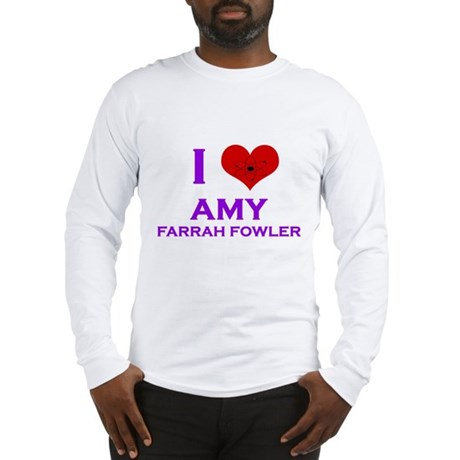 I Heart Amy Farrah Fowler Long Sleeve T-Shirt