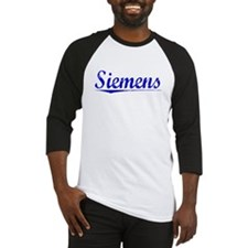 Siemens, Blue, Aged Baseball Jersey