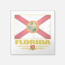 "Florida (Flag 10).png Square Sticker 3"" x 3"""