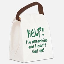Help! I'm Preaching Canvas Lunch Bag