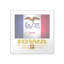 "Iowa (Flag 10).png Square Sticker 3"" x 3"""