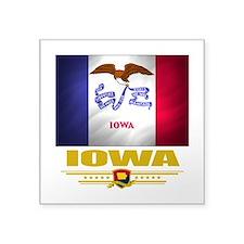 "Iowa (Flag 10).png Square Sticker 3"" x 3"""