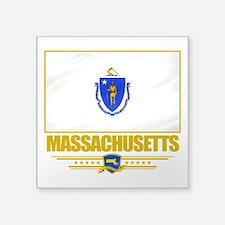 """Massachusetts (Flag 10).png Square Sticker 3"""" x 3"""""""