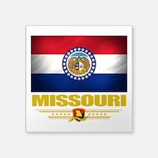 "Missouri (Flag 10).png Square Sticker 3"" x 3"""