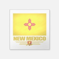 "New Mexico (Flag 10).png Square Sticker 3"" x 3"""