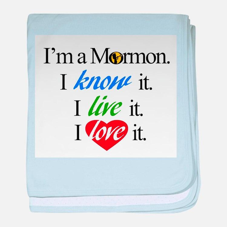 I'm a Mormon baby blanket