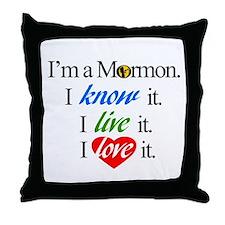 I'm a Mormon Throw Pillow